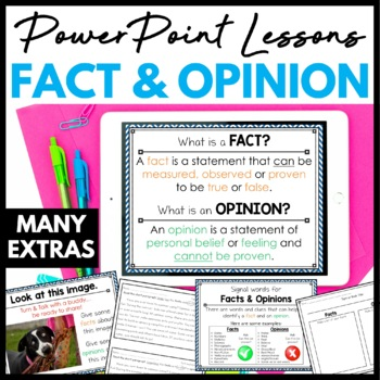 Fact and Opinion PowerPoint Minilesson