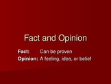 Fact and Opinion PowerPoint Slide Show