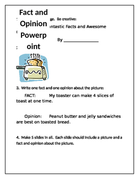 Fact and Opinion Powerpoint Project