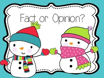 Fact and Opinion {Presentation and Student Practice}
