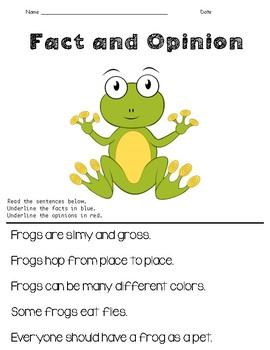Fact and Opinion (Primary)