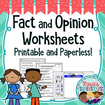 Fact And Opinion Worksheets Printable And Digital By Rosies Superstars