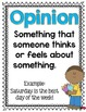 Fact and Opinion Activities and Printables Spring Themed