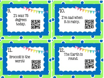Fact and Opinion QR Codes