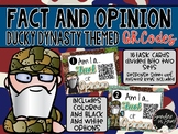 Fact and Opinion QR Codes- Featuring Duck Dynasty Characters