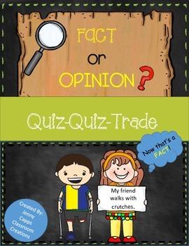 Fact and Opinion Quiz-Quiz-Trade