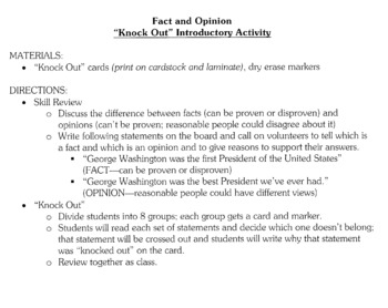 Fact and Opinion - Reading Skill - Lesson Activities and Materials