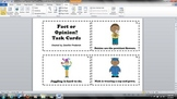 Fact and Opinion - Reading Task Cards
