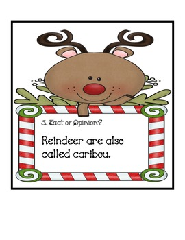 Fact and Opinion Reindeer Scoot