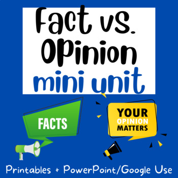 Fact and Opinion: Sorting Activity, Anchor Chart, Lessons, Assessment