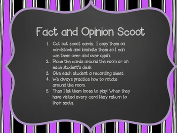 Fact and Opinion Scoot