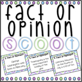 Fact and Opinion SCOOT! Game, Task Cards or Assessment