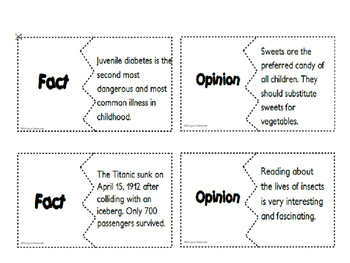 Fact and Opinion Set 2- English