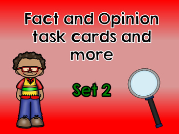 Fact and Opinion Set 2- English