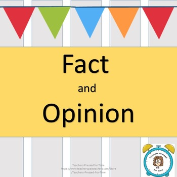Fact and Opinion Packet