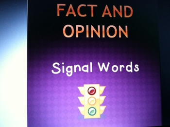 Fact and Opinion Signal Words