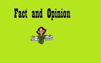Fact and Opinion SmartBoard File