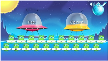 Fact and Opinion Smartboard Game and Worksheet