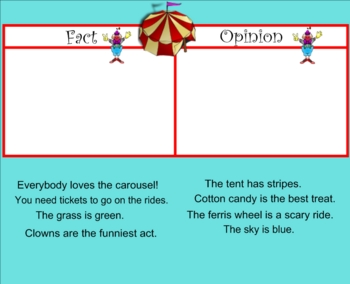 Fact and Opinion Smartboard Practice