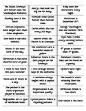 Fact and Opinion Sort