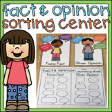 Fact and Opinion Sort 1st Grade Literacy Center