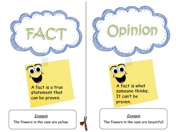 Fact and Opinion Sort Cards Center