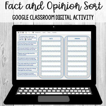 Fact and Opinion Sort: Google Classroom Digital Activity [SOL 4.6h]