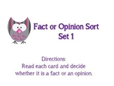 Fact and Opinion Sort Set 1