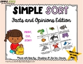 Fact and Opinion Sorting Cards