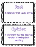 Fact and Opinion Sorts Bundle
