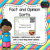 Fact and Opinion Sorts with QR Codes