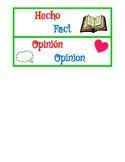 Fact and Opinion Spanish Sort