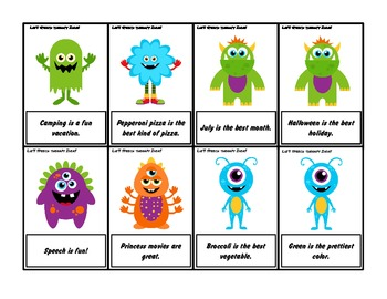 Fact and Opinion Speech Therapy Cards