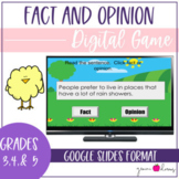 Fact and Opinion Spring Theme Google Slides Digital Game