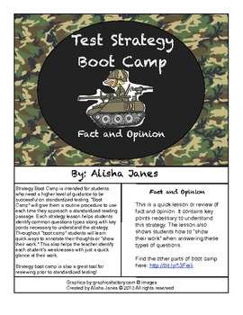 Fact and Opinion Strategy Boot Camp