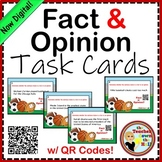 Fact and Opinion Task Cards w/ QR Codes!