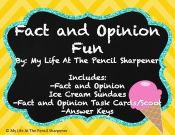Fact and Opinion -  Task Cards and Craftivity - 2 Activities!