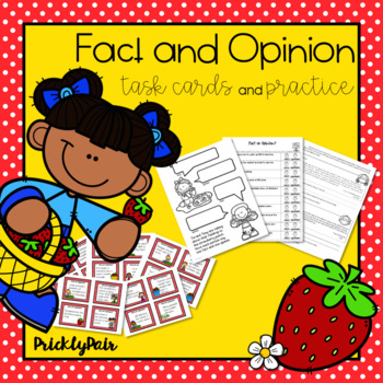 Fact and Opinion Task Cards and Worksheets