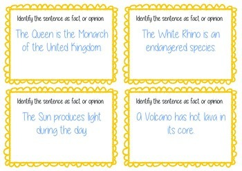 Fact and Opinion Text Task Cards - Guided Reading - BUNDLE
