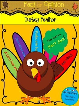 Fact and Opinion Turkey Feather Velcro