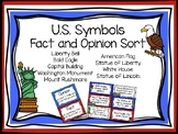 Fact and Opinion U.S Symbols Sort
