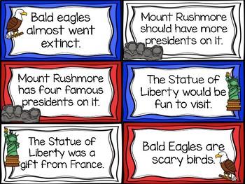 Fact and Opinion U.S Symbols Sort