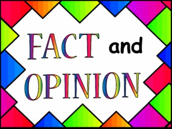 Fact and Opinion Upper Elementary Interactive PowerPoint G