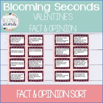 Fact and Opinion Valentine's Day