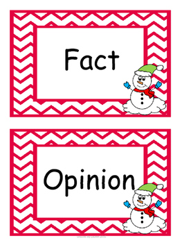 Fact and Opinion - Winter Theme