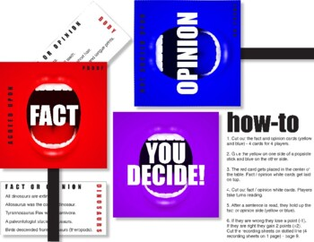 Fact or Opinion: You Decide! Game