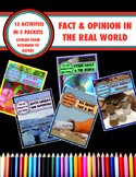 Fact and Opinion in the Real World:           15 Activity Mega-Pack