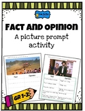 Fact and Opinion a picture prompt activity