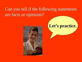 Fact and Opinion powerpoint