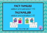 Fact families addition and subtraction 1-10